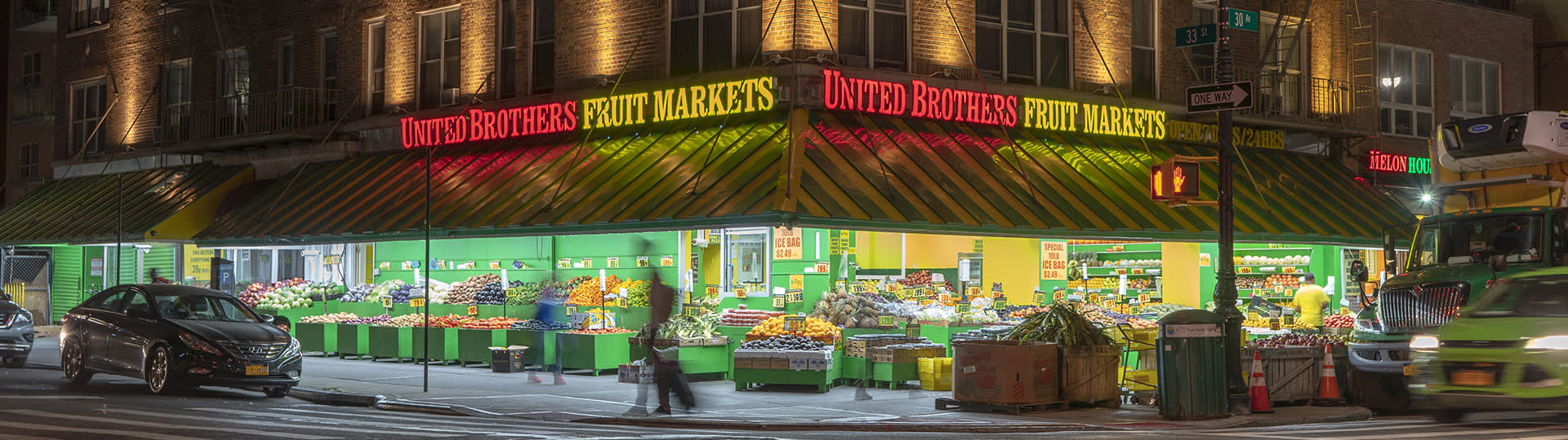 Mercado de frutas da United Brothers, Astoria, Queens