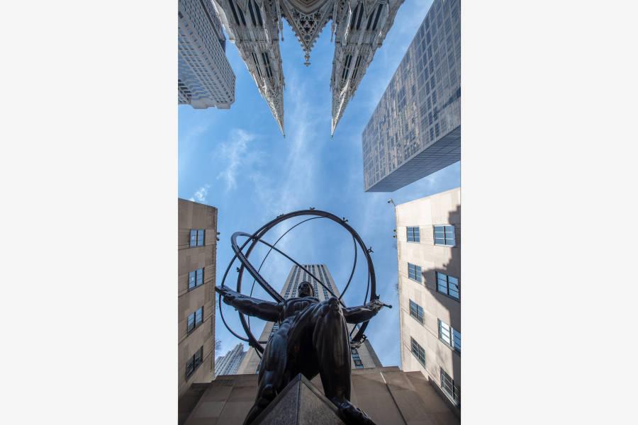 Atlas Sculpture, Julienne Schaer, Midtown, NYC, Manhattan, Sculpture, Rockefeller Center,