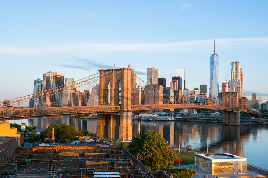 Brooklyn Bridge, Skyline, NYC, Virtual NYC,