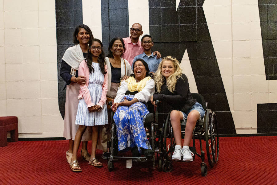 The family meets Tony-winning actor Ali Stroker.