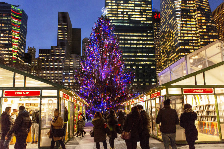 Bryant Park Holiday Markets, Holiday in NYC,