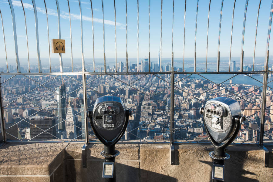 Observation Deck at Empire State Building, Midtown, Manhattan, NYC