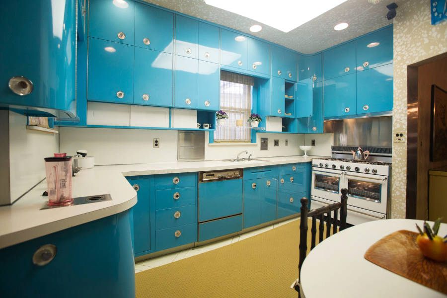 View of kitchen at Louis-Armstrong House Museum, Corona, Queens, NYC