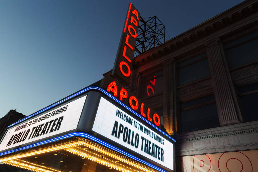 Maquee of the Apollo Theater, Harlem, Manhattan, NYC