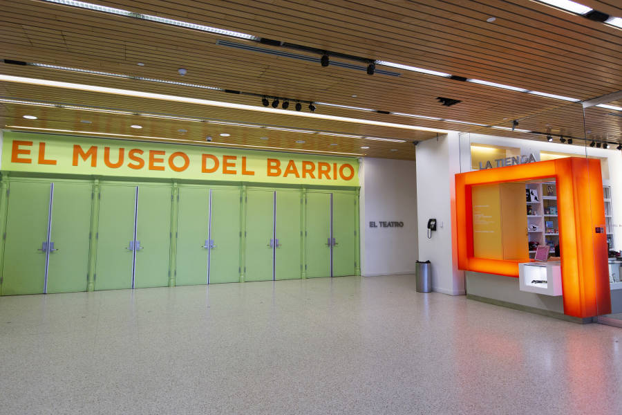 Lobby at El Museo del Barrio, museum, in East-Harlem, Manhattan, nyc
