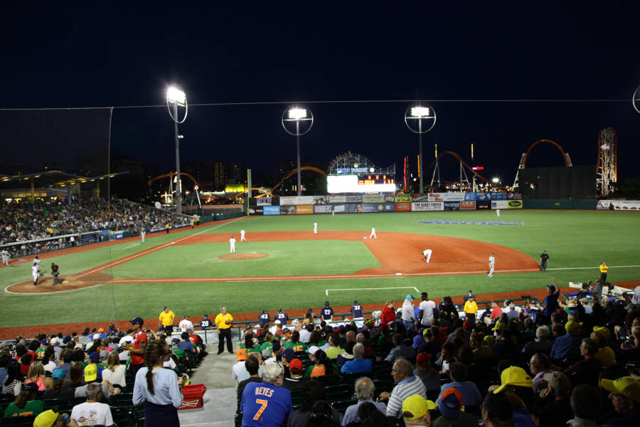 Brooklyn Cyclones game at MCU Park in Coney Island