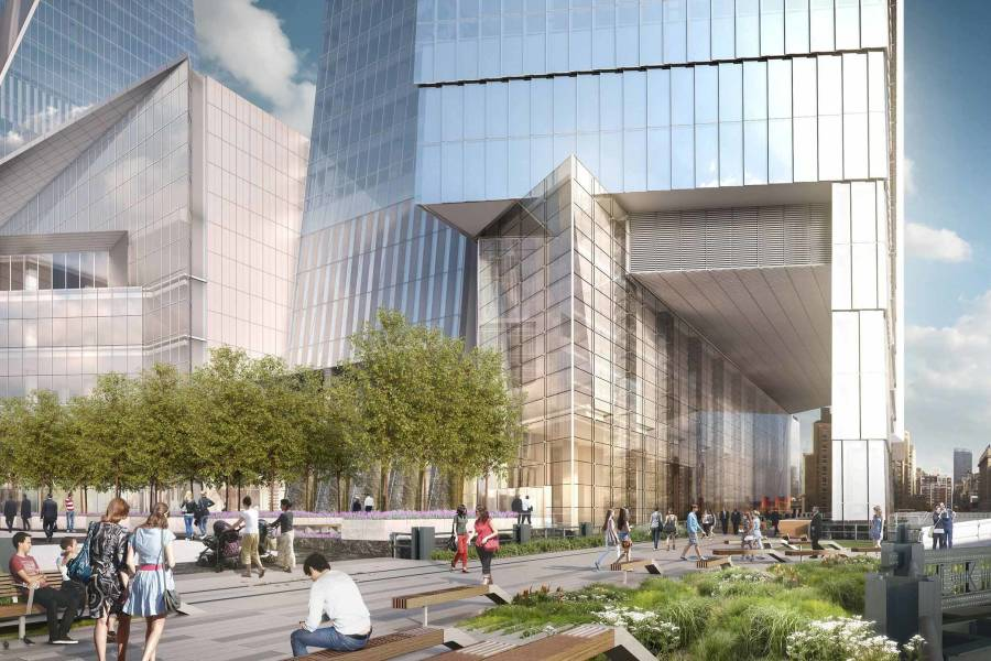 The Highline entrance at Hudson Yards NYC