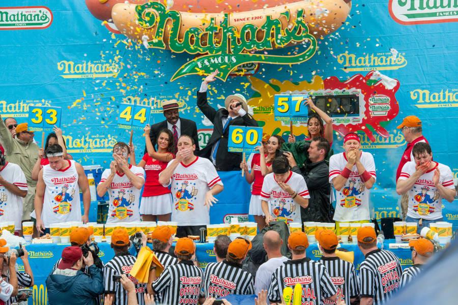 New York City contest Nathans Hotdog Essen