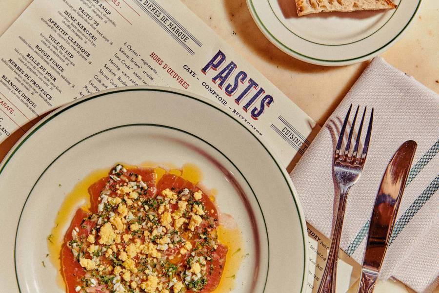 Pastis, food, menu