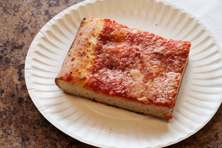 Sicilian slice at Sharkey's Square in Staten Island