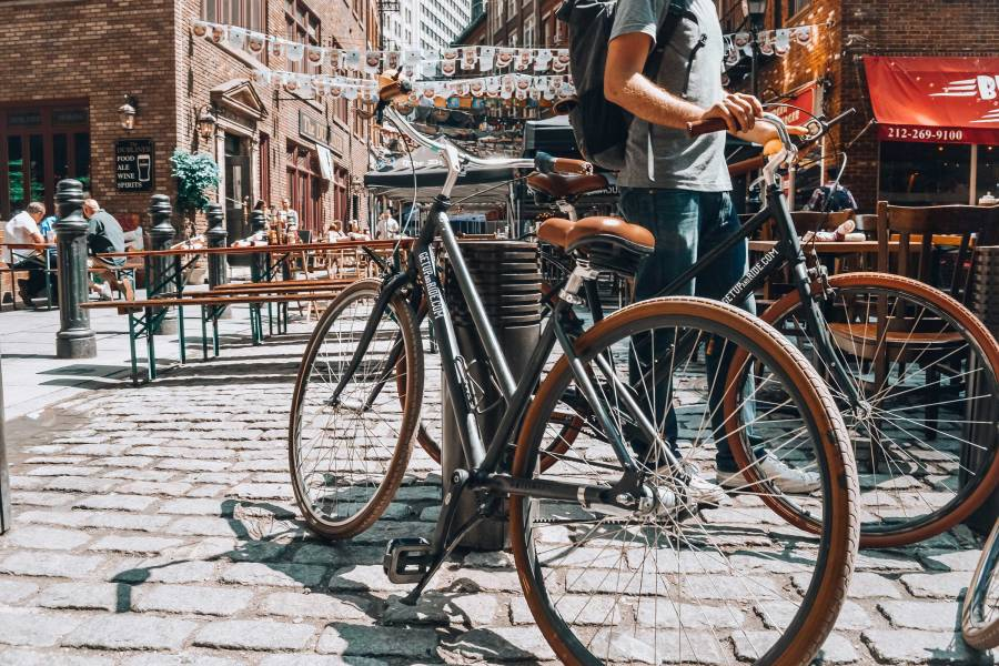 get up and ride, bike, south street seaport