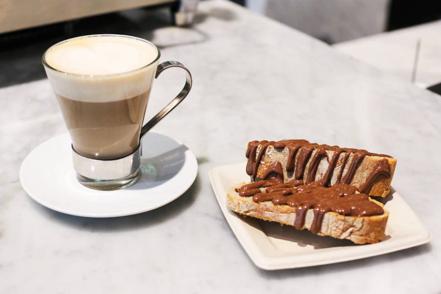 Pane con Nutella and Latte from Eataly