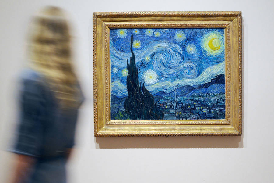 MoMA van gough picture, see it at the free museum in nyc