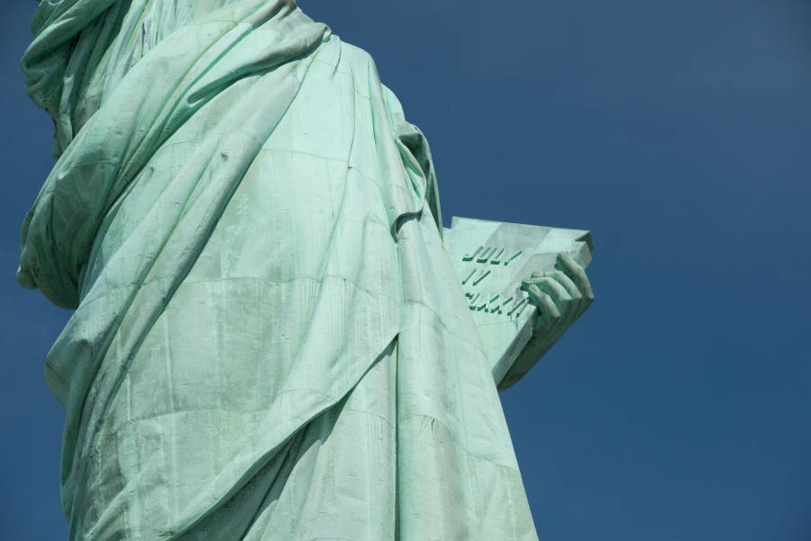 Detail of the Statue of Liberty