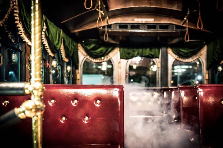 madame morbid, trolley, interior
