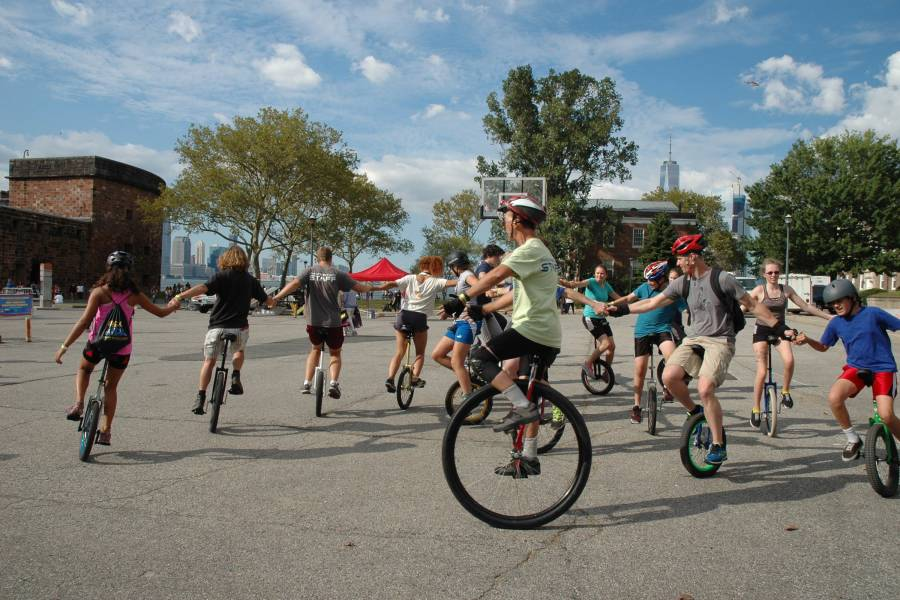Unicycle festival, governors island