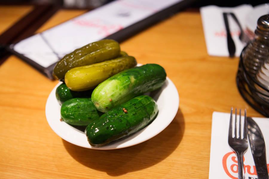 pickles at carnegie deli