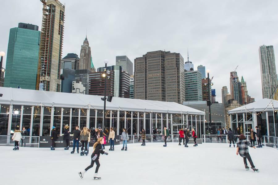pier 17, rooftop skating