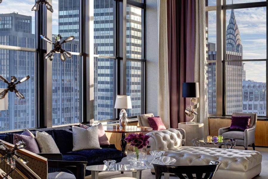 lotte new york, jewl suite, living room