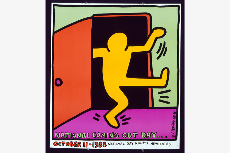 Keith Haring. National Coming Out Day. 1988. Offset lithograph 26 x 23 in. © Keith Haring Foundation