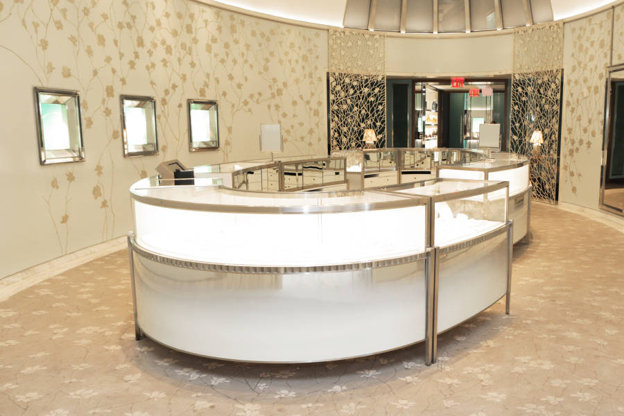 Interior of Tiffany & Co. in Soho Manhattan