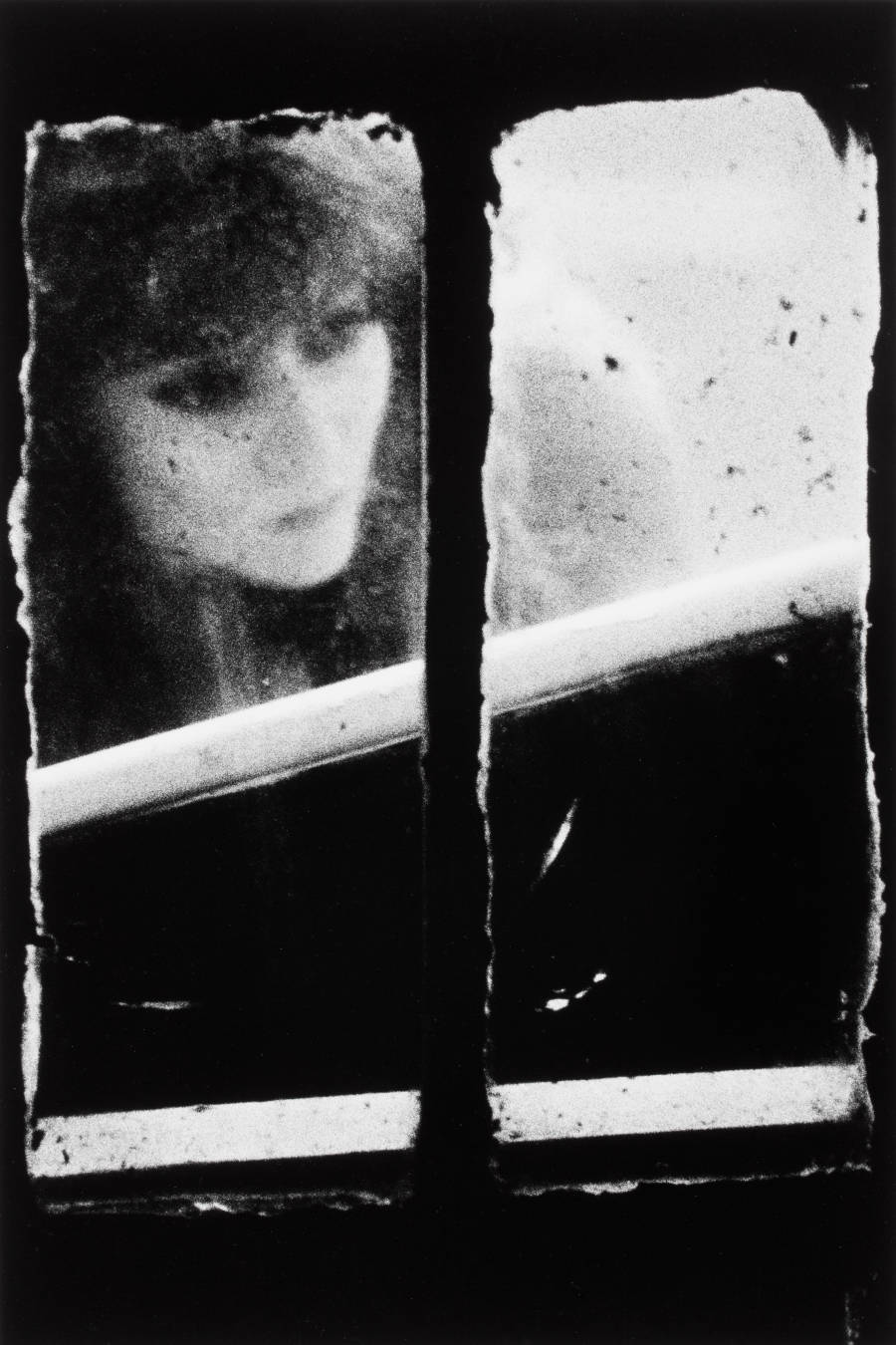 Dirty Windows Series #19 (1994) by Merry Alpern in the summer exhibition Public/Private/Portrait at ICP.