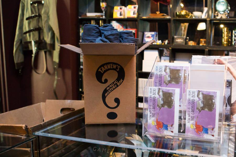 Tanner's Magic Shop, interior, magic box