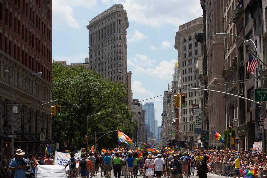 pride parade, flatiron