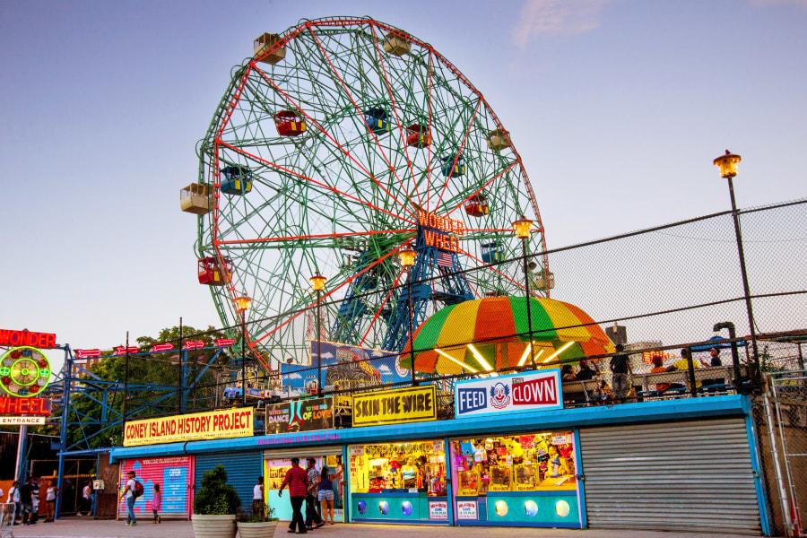 Coney Island, Brooklyn, NYC, Wonderwheel, Spring, Brittany Petronella