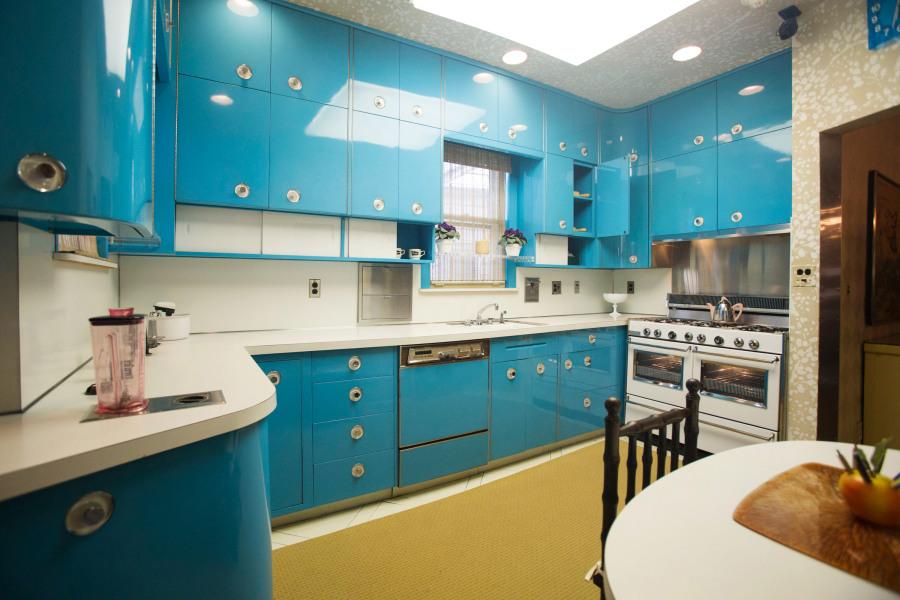 Vue de la cuisine au Louis-Armstrong House Museum, Corona, Queens, New York
