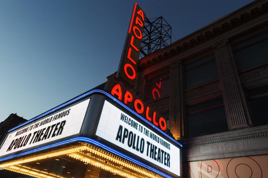 Maquee du Apollo Theater, Harlem, Manhattan, New York