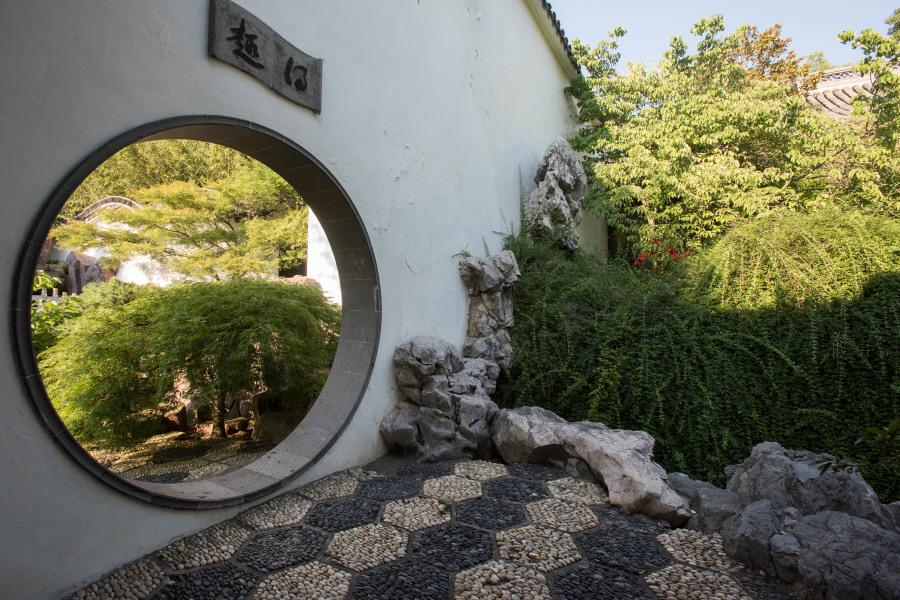 chinese sculpture garden, snug harbor, staten island, sculpture garden