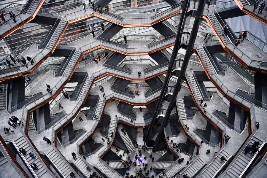 The Vessel interior is must see in Hudson Yards NYC