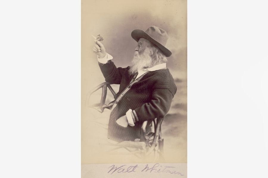 Walt Whitman, Bard of democracy, Morgan Library,
