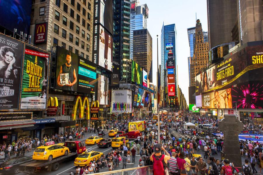 Times Square, Brittany Petronella, Manhattan, NYC, New York City