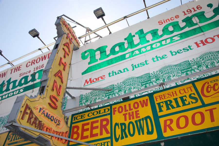 Nathan's Famous Hot Dogs in Coney Island