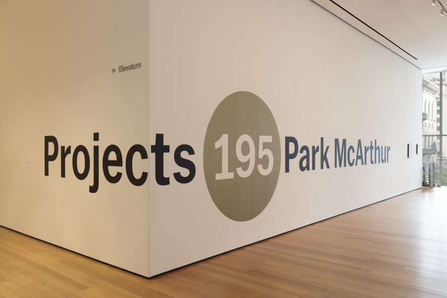 Installation view of the exhibition. Projects 195: Park McArthur.. October 27, 2018-January 27,.2019. The Museum of Modern Art, New York. Digital Image © 2018 The Museum of Modern Art, New York. Photo by Denis Doorly