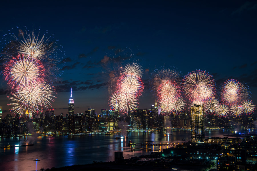 feux d'artifice de Macys quart de juillet nyc