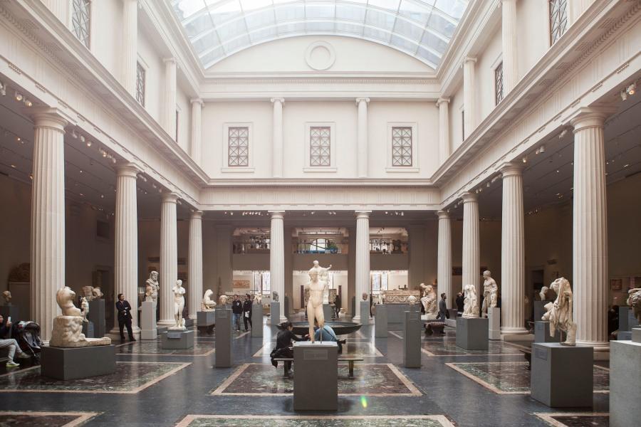 met museum, interior