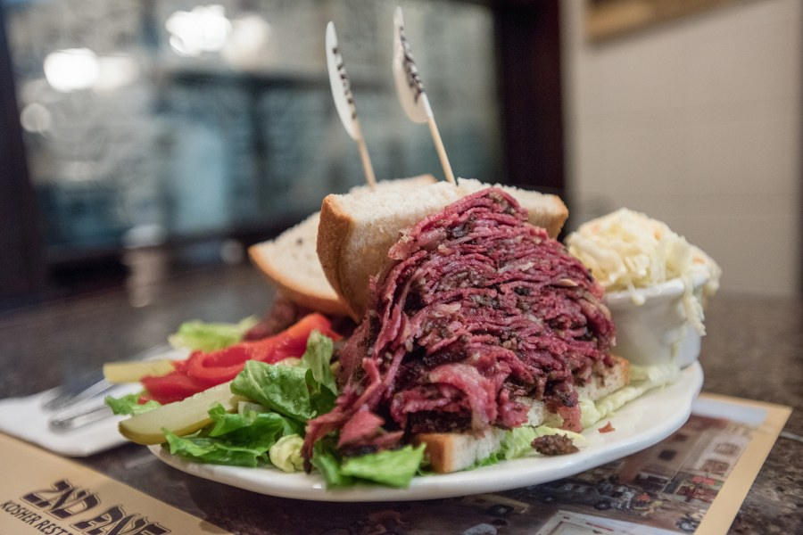 Corned beef on rye from 2nd Ave Deli