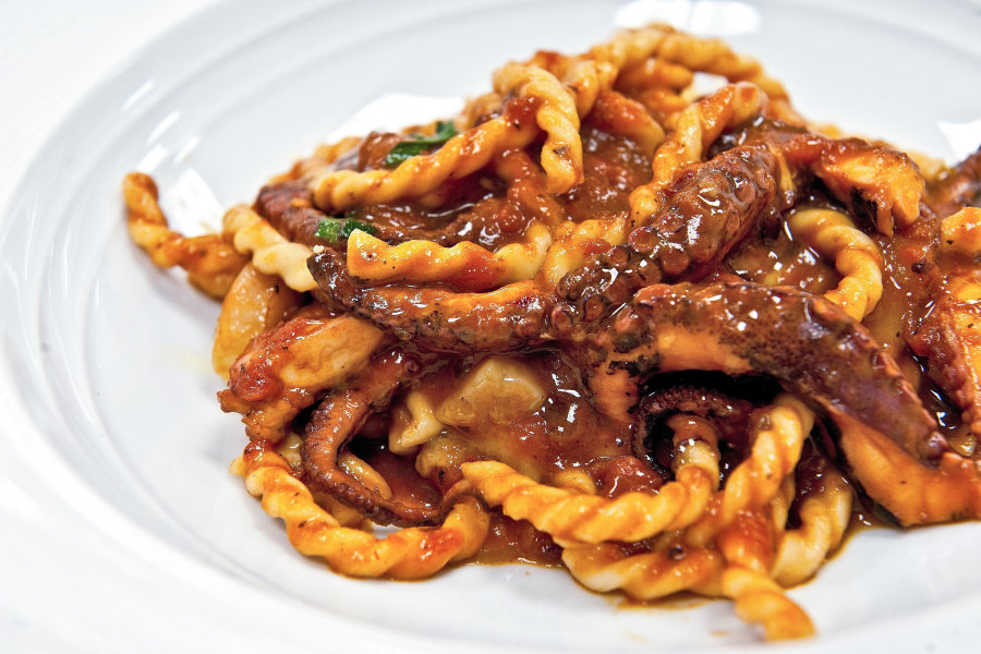 Fusilli with Octopus and Bone Marrow from Marea