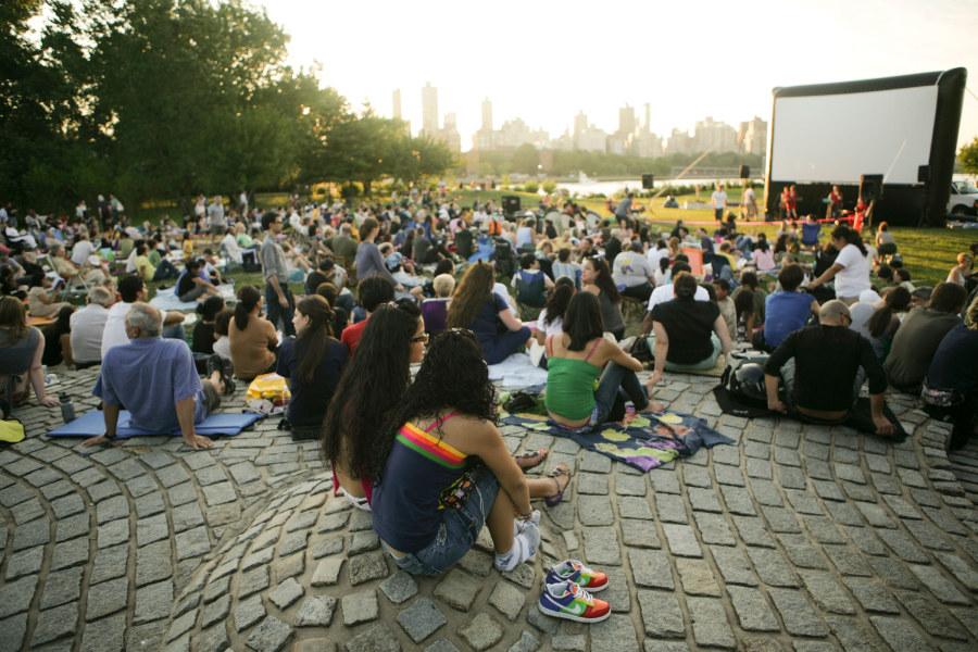 Socraates Sculpture Park, outdoor movie