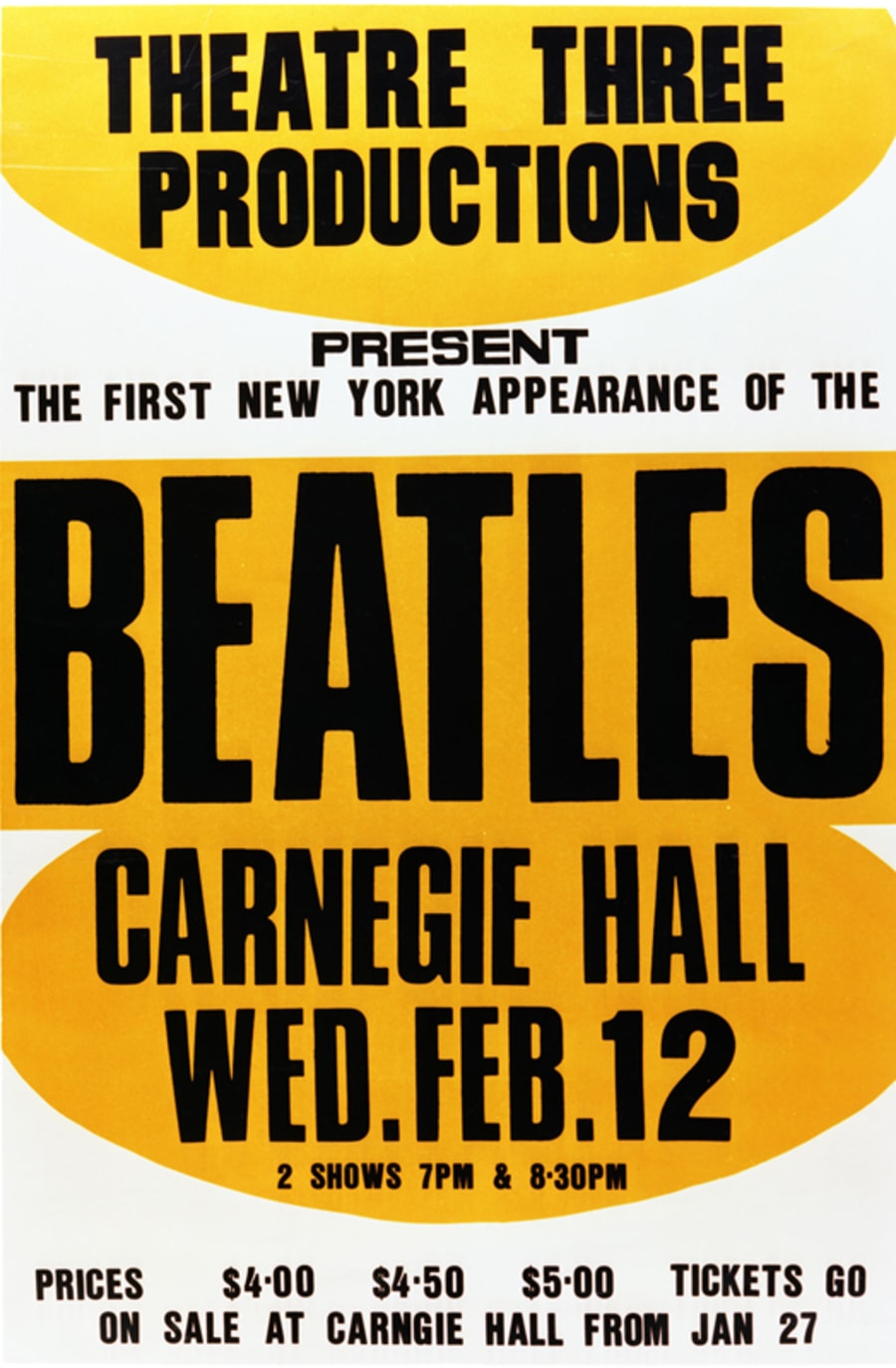 Beatles poster from Carnegie Hall