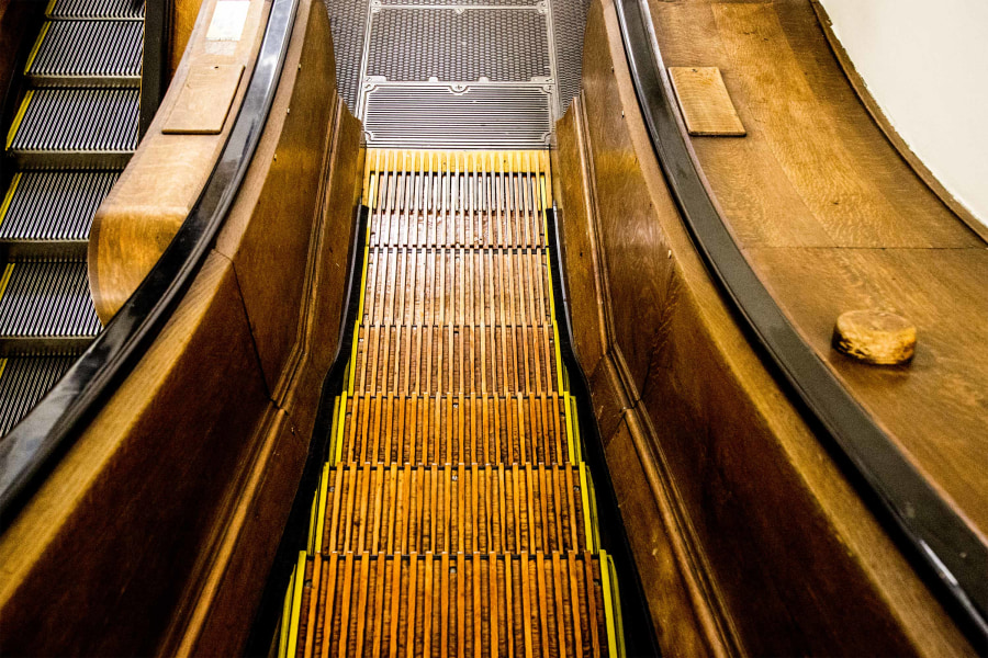 Macy's herald square, escalator, stairs