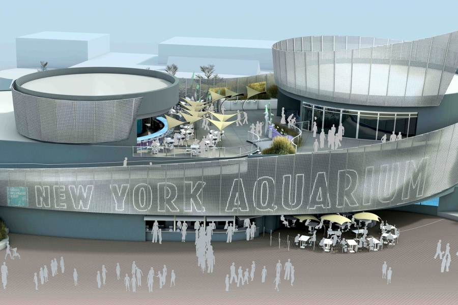 Coney Island aquarium, rendering