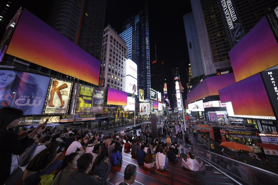 midnight moments, times square
