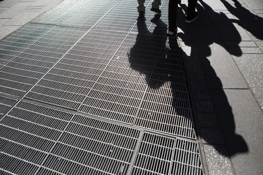 Times Square hum, art installation