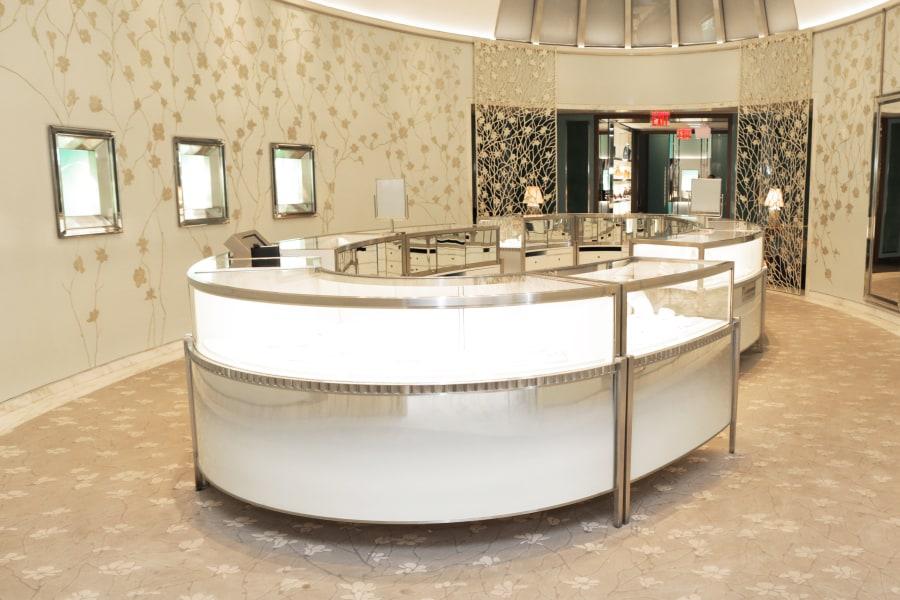 Interior of Tiffany & Co. in Soho Manhattan