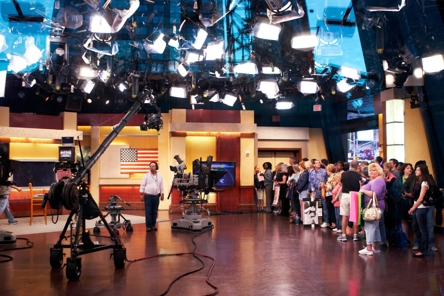 Taping of Good Morning America in New York City