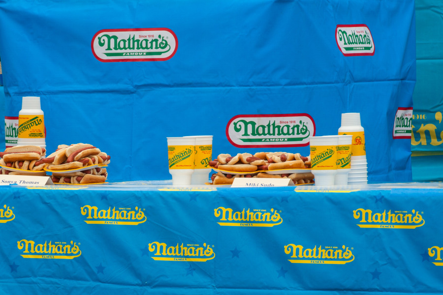 Nathans Hot dog Eating Contest, Nathans, Coney Island,